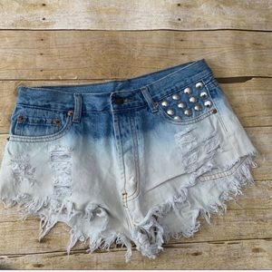 Signature8 denim shorts